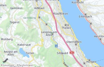 Stadtplan Langnau am Albis