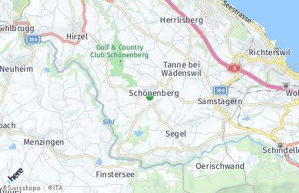 Stadtplan Schönenberg (ZH)
