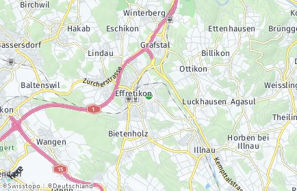 Stadtplan Illnau-Effretikon OT Luckhausen