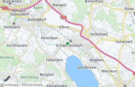 Stadtplan Schwerzenbach