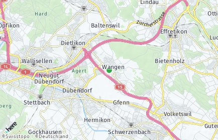 Stadtplan Wangen-Brüttisellen