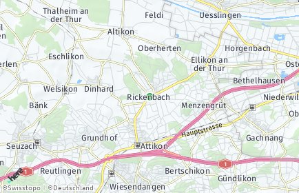 Stadtplan Rickenbach (ZH)