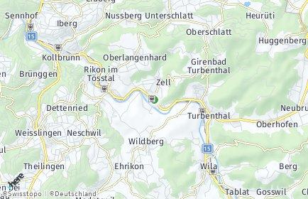 Stadtplan Zell (ZH)