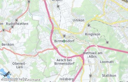Stadtplan Birmensdorf (ZH)