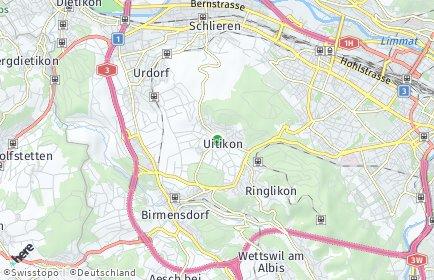Stadtplan Uitikon