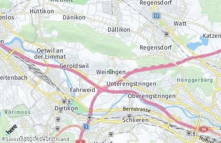 Stadtplan Weiningen (ZH)