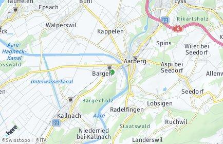 Stadtplan Bargen (BE)