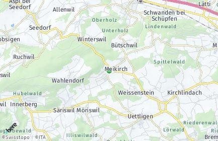 Stadtplan Meikirch