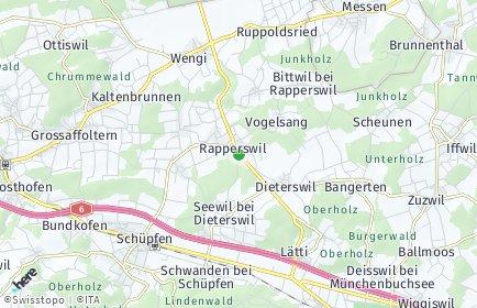 Stadtplan Rapperswil (BE)