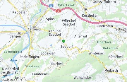 Stadtplan Seedorf (BE)
