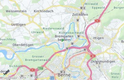 Stadtplan Bremgarten bei Bern
