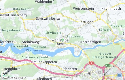 Stadtplan Wohlen bei Bern OT Uettligen