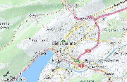 Stadtplan Biel/Bienne OT Mett/Mâche