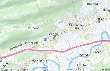 Stadtplan Lengnau (BE)