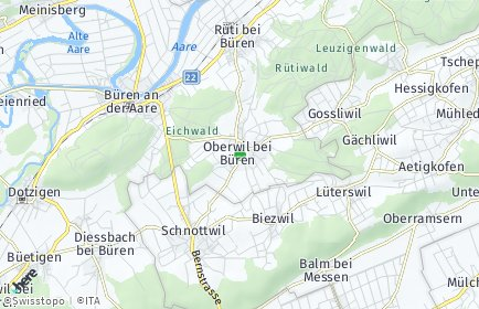 Stadtplan Oberwil bei Büren