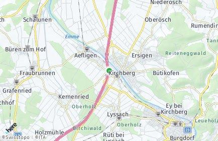 Stadtplan Rüdtligen-Alchenflüh