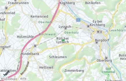 Stadtplan Rüti bei Lyssach