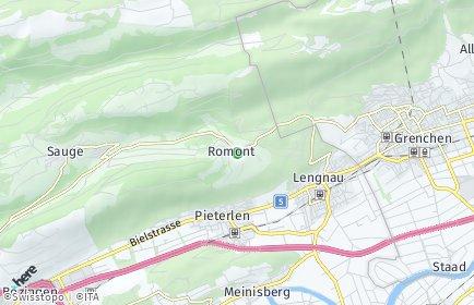 Stadtplan Romont (BE)