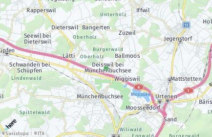 Stadtplan Deisswil bei Münchenbuchsee