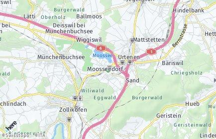 Stadtplan Moosseedorf
