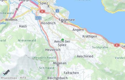 Stadtplan Aeschi bei Spiez