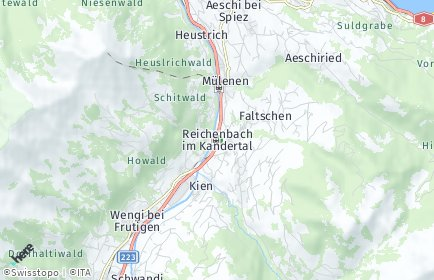 Stadtplan Reichenbach im Kandertal OT Faltschen