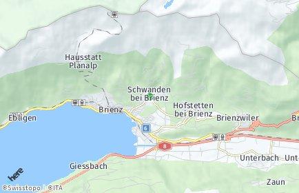 Stadtplan Schwanden bei Brienz