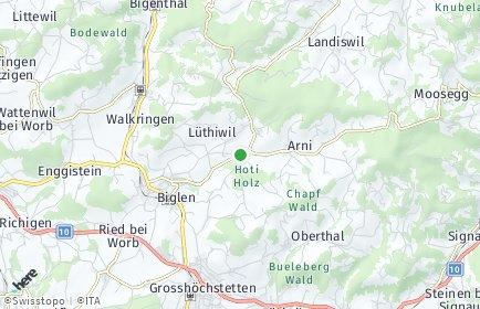 Stadtplan Arni (BE)