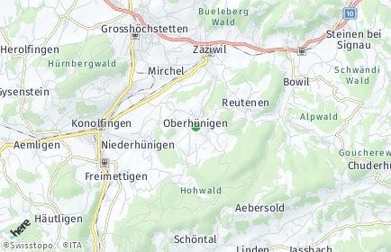 Stadtplan Oberhünigen
