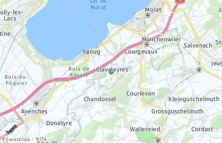 Stadtplan Clavaleyres