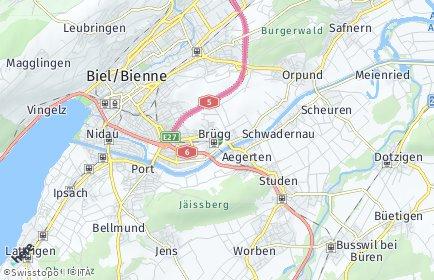 Stadtplan Brügg