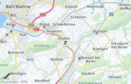 Stadtplan Studen (BE)