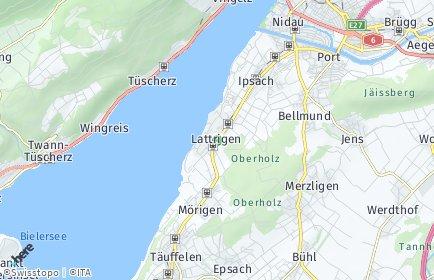 Stadtplan Sutz-Lattrigen