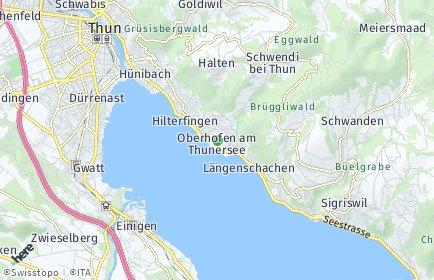 Stadtplan Oberhofen am Thunersee