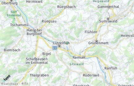 Stadtplan Lützelflüh