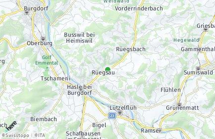 Stadtplan Rüegsau