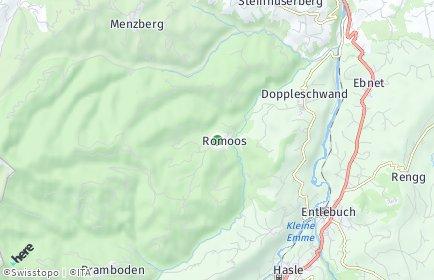 Stadtplan Romoos
