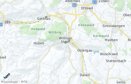Stadtplan Willisau