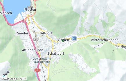 Stadtplan Bürglen (UR)