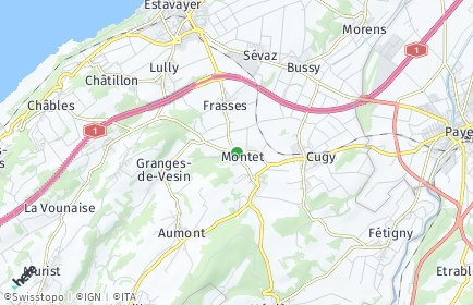 Stadtplan Les Montets