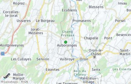 Stadtplan Auboranges