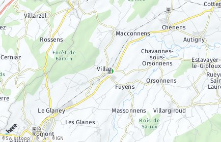 Stadtplan Villaz-Saint-Pierre