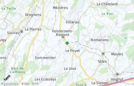 Stadtplan Vuisternens-devant-Romont