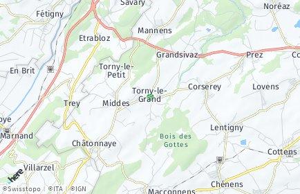 Stadtplan Torny