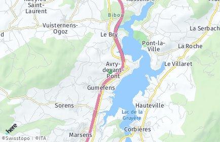 Stadtplan Pont-en-Ogoz