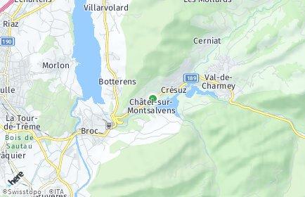 Stadtplan Châtel-sur-Montsalvens