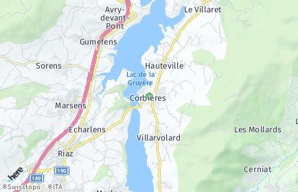 Stadtplan Corbières (FR)