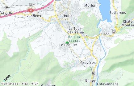 Stadtplan Le Pâquier (FR)