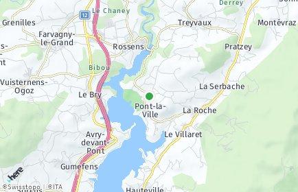 Stadtplan Pont-la-Ville