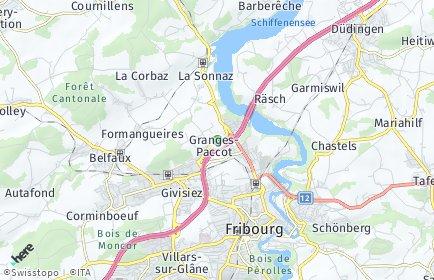 Stadtplan Granges-Paccot